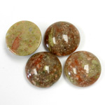 Gemstone Cabochon - Round 15MM CHINESE UNIKITE