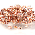 Preciosa Czech Glass Seed Bead - Farfalle 02x4MM CRYSTAL/COPPER 0005j