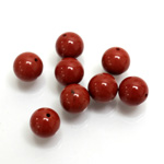 Gemstone 1-Hole Ball 08MM RED JASPER