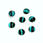 Glass Medium Dome Cabochon - Round 07MM BLUE TORTOISE