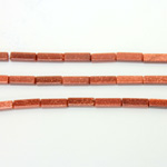 Man-made Bead - Rectangle Smooth 13x4MM BROWN GOLDSTONE
