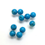 Gemstone 1-Hole Ball 06MM HOWLITE DYED TURQUOISE