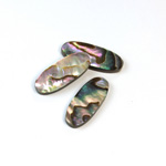 Shell Flat Back Flat Top Straight Side Stone - Oval 21x9MM ABALONE