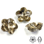 Chinese Cut Crystal Bead Side Drilled - Flower 18MM CHAMPAGNE FOILED