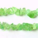 Fiber-Optic Synthetic Bead - Cat's Eye Chip Baroque CAT'S EYE LT GREEN