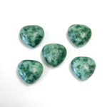 Gemstone Cabochon - Heart 12MM JADE ZING JIANG