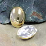 German Plastic Cabochon Vacuum Coated - Oval 25X18MM GOLD