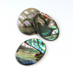 Shell Flat Back Flat Top Straight Side Stone - Oval 25x18MM ABALONE