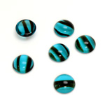 Glass Medium Dome Cabochon - Round 09MM BLUE TORTOISE