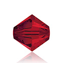 Swarovski Crystal Bead - Bicone 06MM LIGHT SIAM RUBY