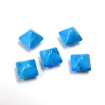 Gemstone Cabochon - Square Pyramid Top 06x6MM HOWLITE DYED TURQUOISE