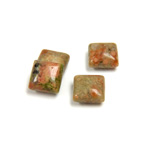 Gemstone Cabochon - Square 08x8MM UNIKITE