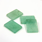 Gemstone Flat Back Flat Top Straight Side Stone - Cushion 14x10MM AVENTURINE