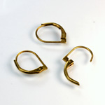 Brass Earwire 13MM Leverback Plain Round with no Loop