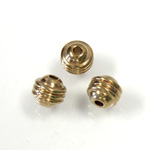 Brass Bead - Lead Safe Machine Made Fancy Round 05.5MM RAW BRASS