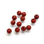 Gemstone 1-Hole Ball 05MM RED JASPER