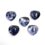 Gemstone Cabochon - Heart 12MM SODALITE