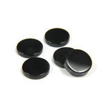 Gemstone Flat Back Flat Top Straight Side Stone - Round 10MM BLACK ONYX  (second quality)