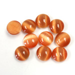 Fiber-Optic Cabochon - Round 08MM CAT'S EYE COPPER