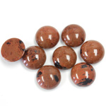 Gemstone Cabochon - Round 10MM RED OBSIDIAN