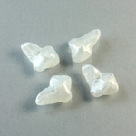 Plastic Bead - Mixed Color Irregular  Abstract 15x3MM MOON WHITE
