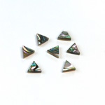 Shell Flat Back Flat Top Straight Side Stone - Triangle 05x5MM ABALONE