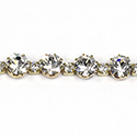 Preciosa Rhinestone Cup Chain Alternating Sizes SS12 - SS29 CRYSTAL-RAW