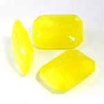 Glass Point Back Buff Top Stone Opaque Doublet - Cushion Octagon 18x13MM YELLOW MOONSTONE