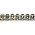 Preciosa Rhinestone Chain - 2 Row PP18 BLACK DIAMOND-RAW