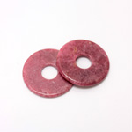 Gemstone Bead - Donut Round Smooth 35MM RHODONITE