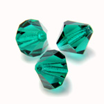 Preciosa Crystal Bead - Bicone 03MM EMERALD