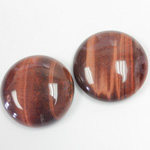Gemstone Cabochon - Round 25MM TIGEREYE RED