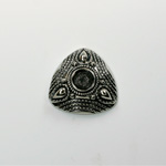 German Metalized Plastic Engraved Setting - Triangle 27MM ANTIQUE SILVER