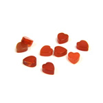 Gemstone Flat Back Flat Top Straight Side Stone - Heart 05x4.5MM CORNELIAN