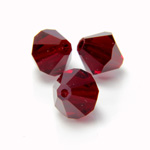 Preciosa Crystal Bead - Bicone 03MM SIAM RUBY