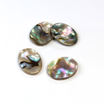 Shell Flat Back Flat Top Straight Side Stone - Oval 16x12MM ABALONE