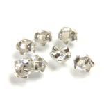 Crystal Stone in Metal Sew-On Setting - Rose Montee Extra SS16 CRYSTAL-SILVER