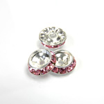 Czech Rhinestone Rondelle Shrag Rivoli Back Setting - Round 12MM outside w 08mm (ss38) Recess LT ROSE-SILVER