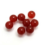 Gemstone 1-Hole Ball 08MM CORNELIAN
