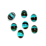 Glass Medium Dome Cabochon - Oval 08x6MM BLUE TORTOISE