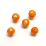 Plastic Moonlite Bead - Smooth Round 08MM MOONLITE ORANGE