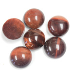 Gemstone Cabochon - Round 13MM TIGEREYE RED