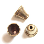 Brass Bead - Lead Safe Machine Made Bead Cap Fancy 07.5MM RAW BRASS