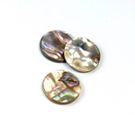 Shell Flat Back Flat Top Straight Side Stone - Round 15MM ABALONE