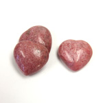 Gemstone Cabochon - Heart 18MM RHODONITE