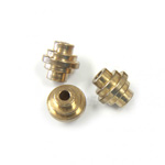 Brass Bead - Lead Safe Machine Made Fancy Bead Hive 06x5.9MM RAW BRASS