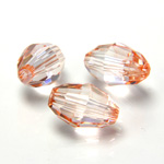Preciosa Crystal Bead - Olive 09x6MM LT ORANGE