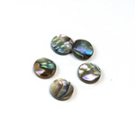 Shell Flat Back Flat Top Straight Side Stone - Round 09MM ABALONE