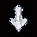 Asfour Crystal Chandelier Parts - Pendalogue Pendant - 33x51mm (2 Inch) CRYSTAL 1 Hole
