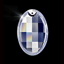 Asfour Crystal Chandelier Parts - Pendalogue Pendant - Oval Matrix 37x62mm (2.5 Inch) CRYSTAL 1 Hole